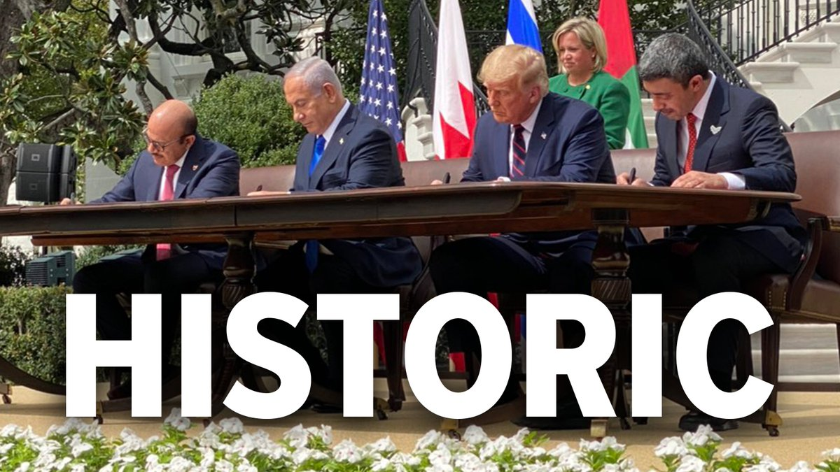 No other president could have brokered this peace deal other than @realDonaldTrump. Democrats have failed at this time and time again. God Bless America, Israel, the UAE, and Bahrain. 🇺🇸🇮🇱🇦🇪🇧🇭