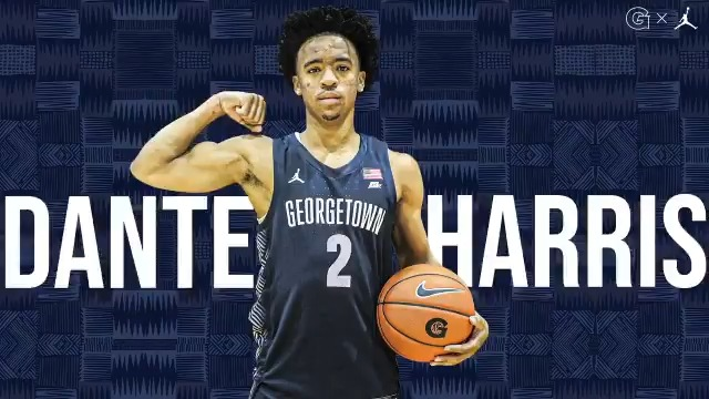 Excited for our new #Hoyas Welcome @dante_Harris3 #HOYASAXA 🔥🏀🔥 Presented by @PNCBank