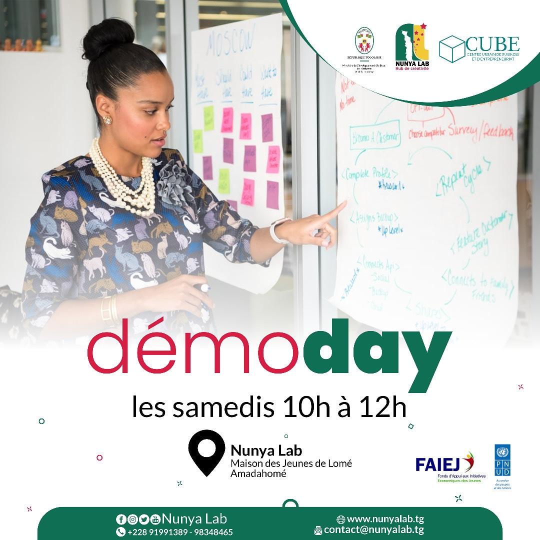Vous pensez avoir une solution innovante qui va changer le monde ? Passez nous faire une démonstration.  Inscription sur https://t.co/deUdkZS5Qh   #demo #nunyalab #prototype #entrepreneurs #faiej #pnud #togo #idee #samedi https://t.co/Z4dMrUvVqA