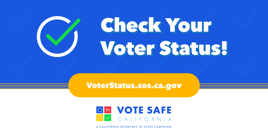 Counties will mail ballots to voters in CA no later than October 5th, and voters will be able to cast their ballot early, in-person at their county registrar's office. Make sure you're ready! Verify your status: https://t.co/XnizdauomZ #VoteSafeCA #VoteCalifornia https://t.co/TazgRKnES1
