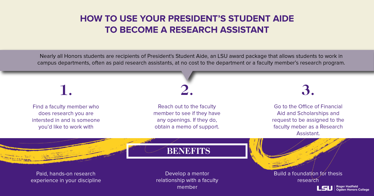 """If you are curious about undergraduate research join us tomorrow at 5:00PM for """"What We Wish We Knew: Student Research Panel."""" Current OHC students and staff will answer questions about how to get involved with research at LSU!  MORE: https://t.co/F3hIbgv6TM https://t.co/35Ev4cOLsB"""
