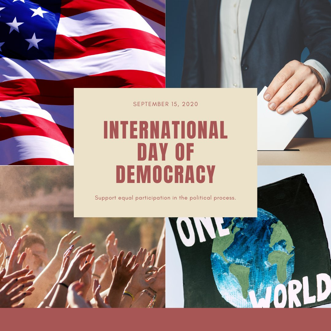 Inclusive democracies give every person a voice. How? They allow all people the chanceto cast ballots,torun for and hold publicoffices, and to engagein all aspects of political and public life. #DayOfDemocracy https://t.co/ZlFGQcsZmt