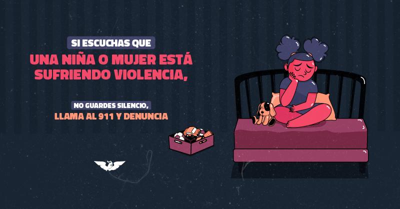 Las violencias contra las mujeres y niñas han aumentado durante la pandemia. Tú puedes ayudar, no te calles, llama al 911 y denuncia. Hazlo por ti y por todas. #NiUnaMenos https://t.co/8tNdyvOWwP