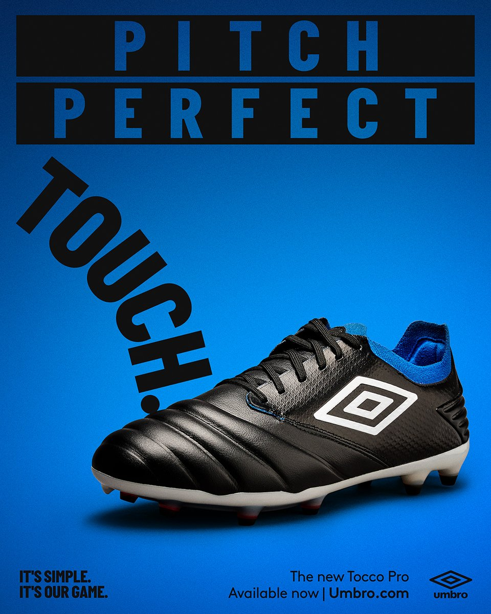 Pitch Perfect Touch 🎯.  Introducing Tocco for all the playmakers out there! The perfect tool to run the midfield like a general.  Hit the 🔗 in bio to find out more. On sale globally now.  #Tocco #Umbro #UmbroFootball https://t.co/U30Xjp6KaK