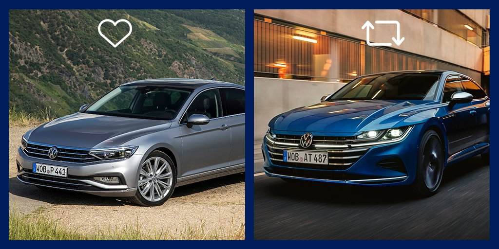 De las dos berlinas de #Volkswagen , ¿cuál es la que más te acelera 😏? #VW  🔁  RT: #VWArteon ❤️ FAV: #VWPassat https://t.co/wNp3BqYvIl