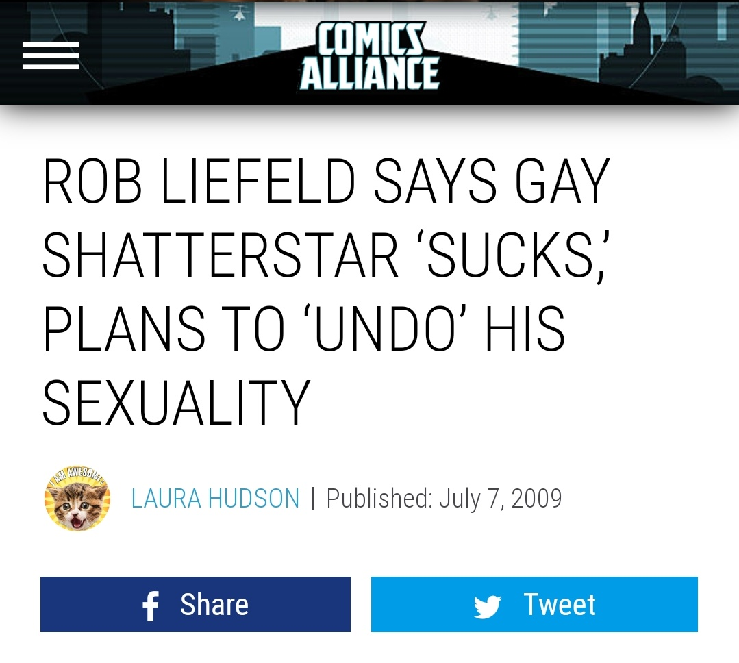 Ant Laaaast Christmas On Twitter Rob Liefeld Targeting Queer Creators Seems On Brand For Him I beat rob liefeld at his own game, 15 years ago, in one english class. rob liefeld targeting queer creators