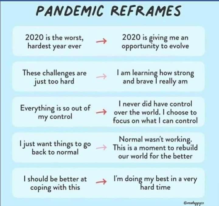 Pandemic reframes