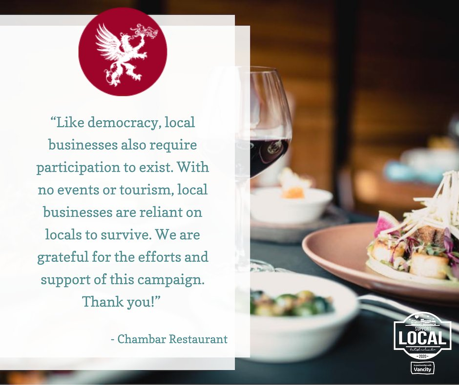 Thank you @chambar for your kind and inspiring words about the importance of community and local support!   @Vancity   @LOCObc   @EconomicDevBC   @DineOutVanFest   @HelloBC   #TestimonialTuesday #SupportLocalBC #communityeffort #bcbuylocal #bcshoplocal #covidsupport #explorebc https://t.co/fJkZg8Y4qD