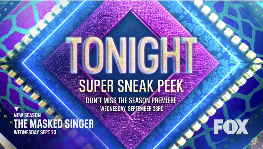 Don't miss the @MaskedSingerFOX Super Sneak Peek TONIGHT after the game on FOX. Excited for my friends over at Smart Dog Media who continue to make some of the wildest and most fun shows on TV. With love, 🦄 #TheMaskedSinger #UnicornMask https://t.co/YNHs1GhehT