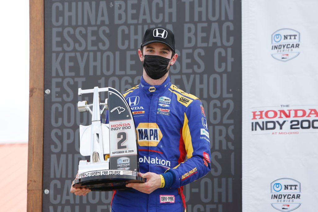 2 x hardware this weekend & a @FollowAndretti + @HondaRacing_HPD podium sweep today. Helluva job by a team that just keeps digging. Congrats @ColtonHerta on your 🥇and @RyanHunterReay on 🥉   #napaknowhow #allandretti #indycar #honda200 https://t.co/LUGcT6nhRQ
