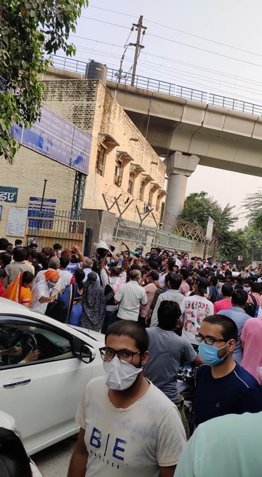 Social distancing maintained in #NEET Examination centre