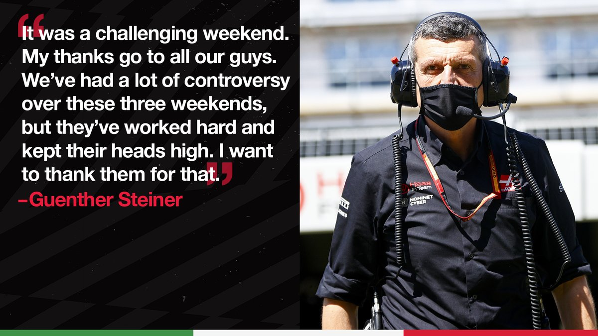 """""""It was an exciting race again. I think we create a lot of the excitement, but in the wrong way for us.""""  Guenther recaps a busy few weeks on track 👉 https://t.co/qEUDESCZAa  #HaasF1 #TuscanGP https://t.co/6mBStuQ9RY"""