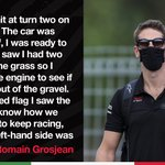 A comeback worthy of Lazarus as @RGrosjean managed to finish the race despite heavy damage on lap one.  His reaction here 👉 https://t.co/qEUDESCZAa  #HaasF1 #TuscanGP