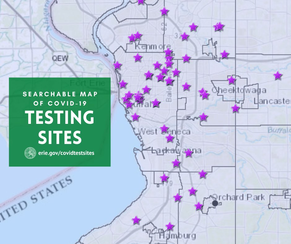 Erie County Ny On Twitter Get Tested For Covid 19 Erie County Has A Searchable Map Of Local Testing Sites At Https T Co Egr1v2p1s9 And Don T Forget The Erie County Dep T Of Health Ecdoh Offers