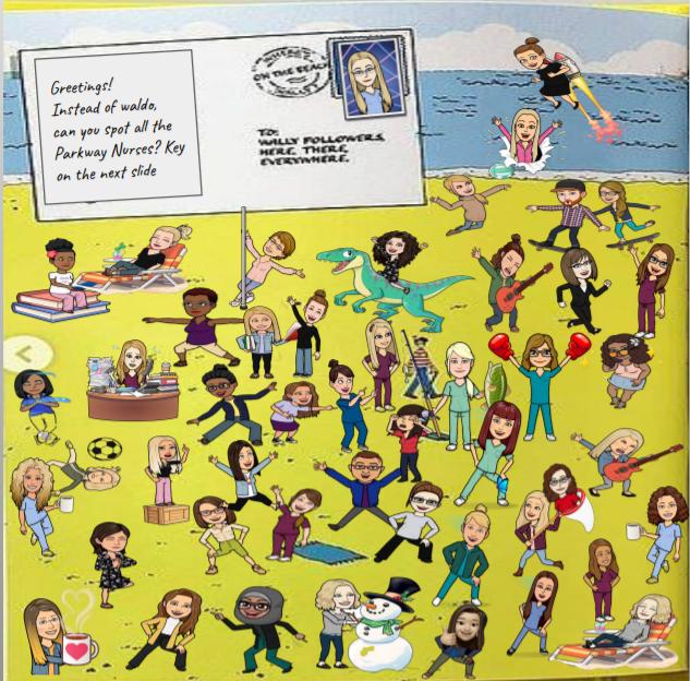 Can you find your school nurse? We miss you! (Thanks School Nurse Kim Webb!) @ParkwaySchools