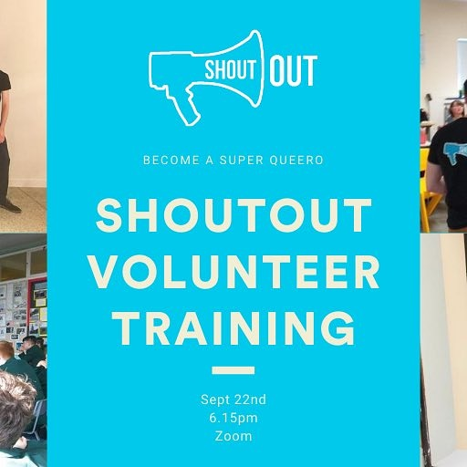 ⏳🤩🌈Only a few days to go but still space to sign up for#ShoutOutvirtual training 💻🤩  📆 6.30, 17 Sept: Refresh & update for current volunteers 📆 6.15, 22 Sept: Training for new volunteers🏳️🌈  For more, email 📧 director@ShoutOut.ie https://t.co/KbrHYqyQv1