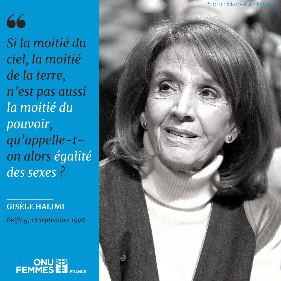 Il y a 25 ans, la voix de #GisèleHalimi s'élevait lors de la 4ème Conférence mondiale sur les femmes.   À Beijing, elle témoigne de son engagement pour un combat qui, aujourd'hui encore, mobilise une #GénérationÉgalité déterminée à faire de l'égalité une réalité. https://t.co/R9sbx4jRSl