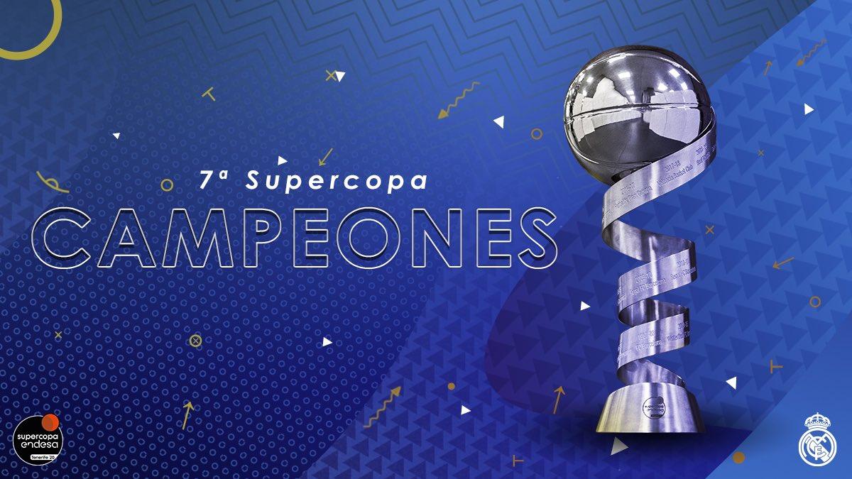 Replying to @RMBaloncesto: 👏 ¡SOMOS CAMPEONES! 👏 🏆 7ª Supercopa de España  🙌 #SUPERCAMPEON7S