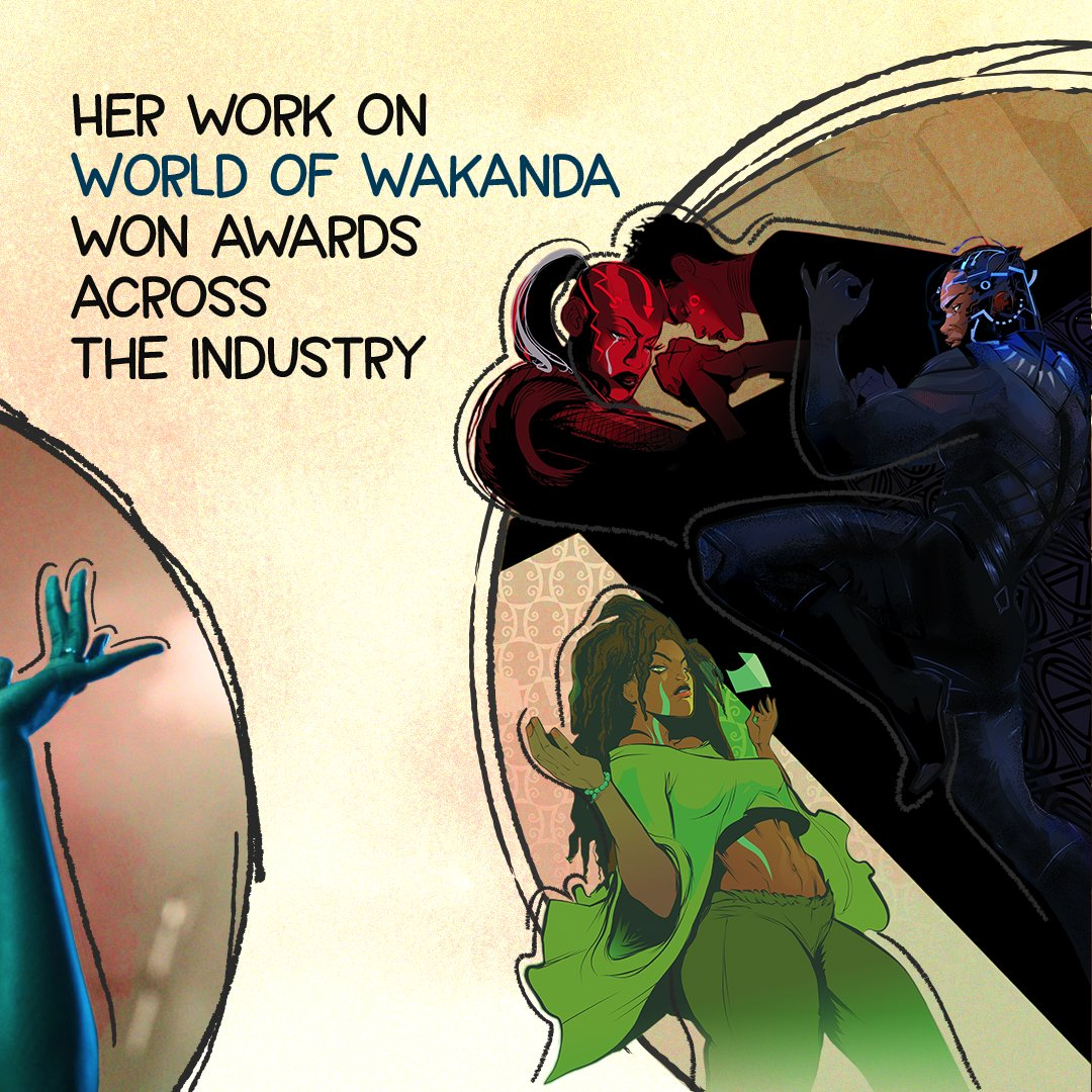 Her work can be seen in titles across the industry, including the award-winning World of Wakanda. https://t.co/MopCHZRzoR