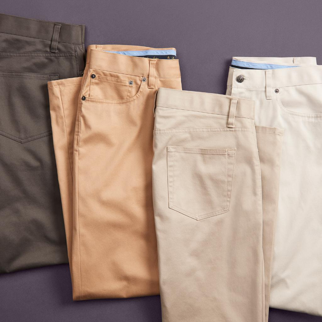 Advantage: you. Our 5-Pocket Stretch Advantage Chinos feature wrinkle resistance, superior softness, and a touch of stretch throughout for all-day comfort at home or in the office #BrooksBrothers #AdvantageChinos  Shop our 5-Pocket Stretch Advantae Chinos: https://t.co/vFGDTgq70Z https://t.co/IHJD6j1Wip