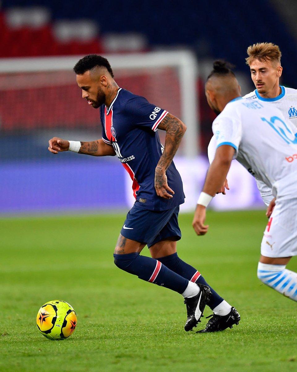 ⏳ Intervalo ▪ Half-Time  PSG 0-1 Olympique de Marseille #Ligue 1  #NRSports #Neymar #NeymarJr #PSG #ParisSaintGermain #PSGOM #Futebol #Football #NeymarFans #NeymarSkills https://t.co/iP9WKEHhG0