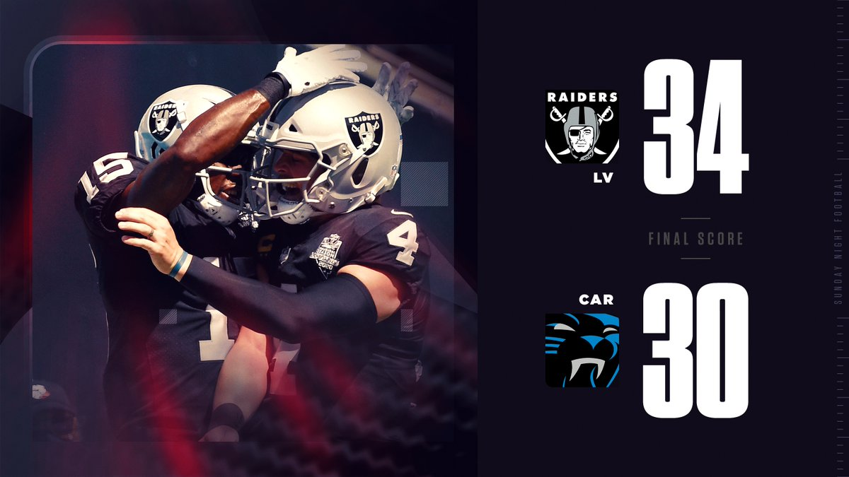 The FIRST WIN in Las Vegas @Raiders history!
