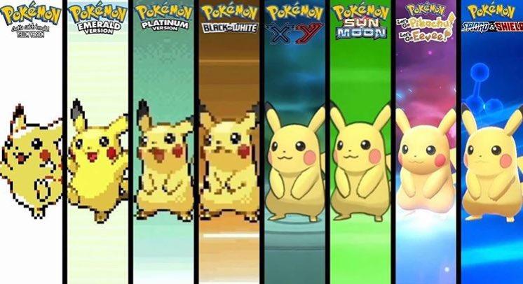 Pikachu sprite evolution through the years 🤩 https://t.co/2l9escz5le