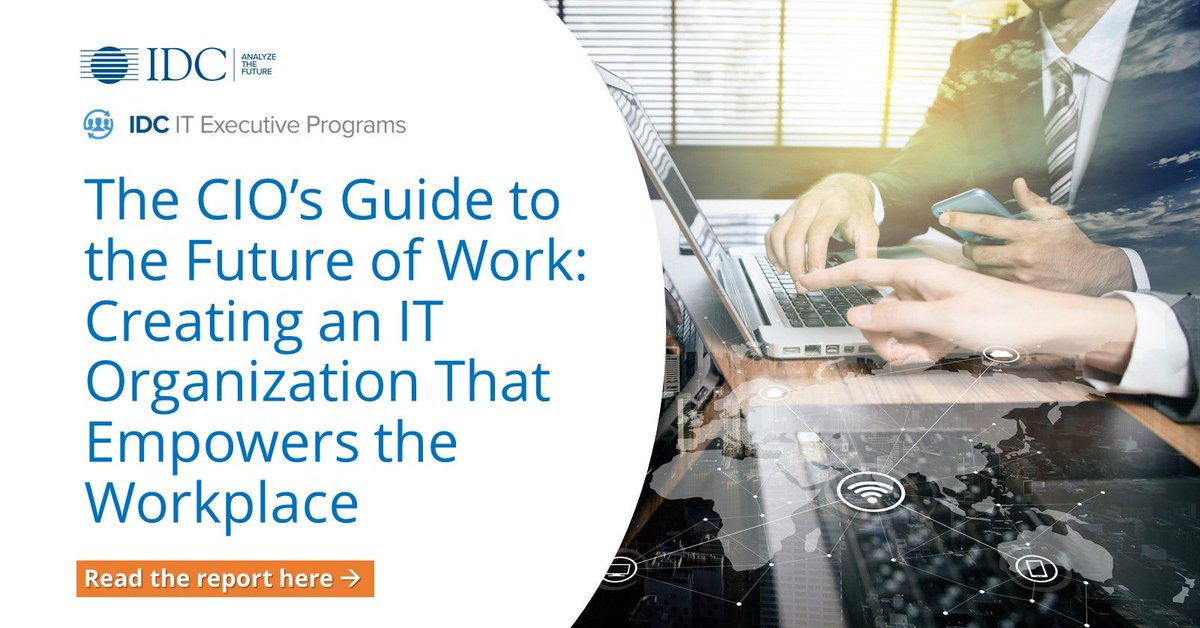 The pandemic has forever changed work as we know it. How should #CIOs leverage their #IT infrastructure to add value to their workforce? Read the report here: https://t.co/u78itg9492 #FutureOfWork https://t.co/A6bDRfqjKw