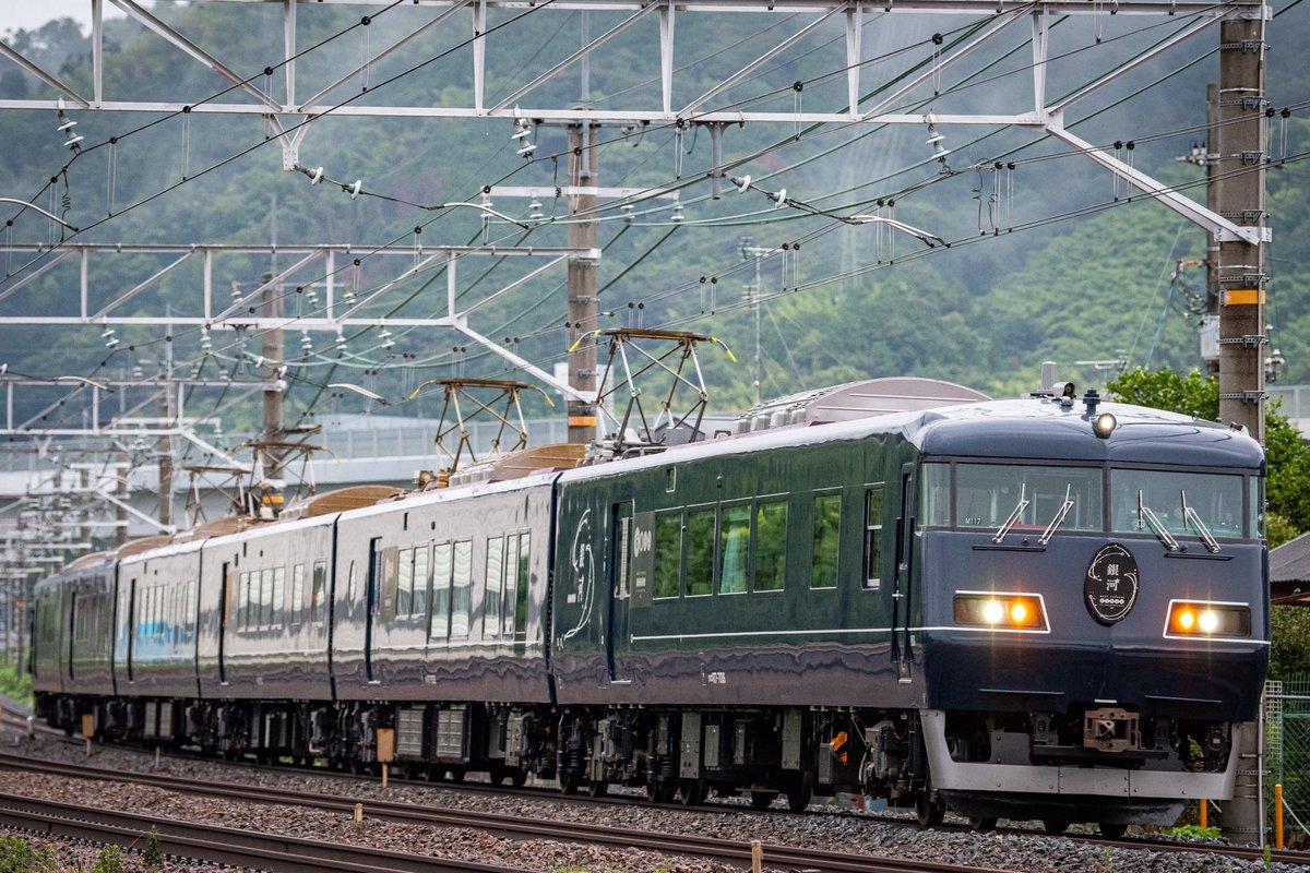 WEST EXPRESS GINGA 回8420M 117系M117編成  初日の運用を終えしばしの休養へ向かいました、これからの活躍を祈念して。  #銀河  #THELONGDISTANCETRAIN  #寝台列車 https://t.co/Djd6hydvtz