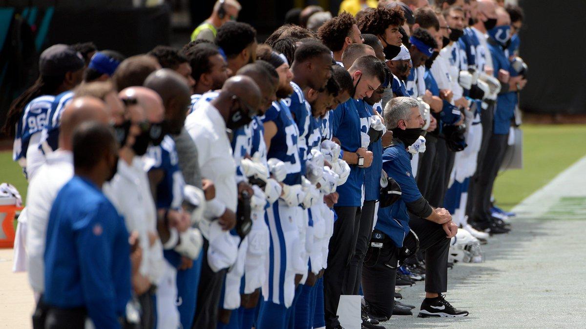 Doyel: Frank Reich kneels during anthem because it's not Black communities problem to fix https://t.co/JkmbLXn1dM https://t.co/AxUvbcMJ4L