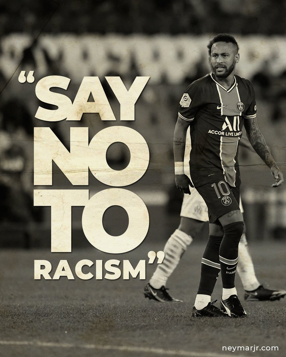 #racismoaquinao 💪🏿💪🏾💪🏽💪🏼💪🏻💪  #Neymar #NeymarJr #Respect #Respeito #SayNoToRacism https://t.co/t9XkY5nkvg
