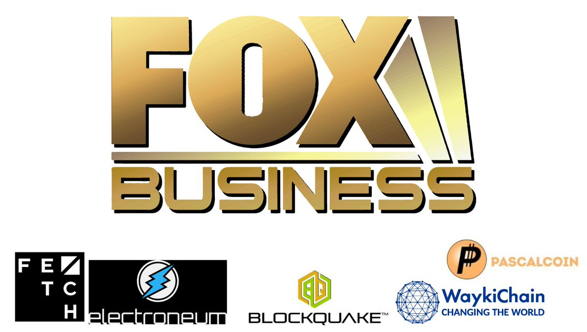 Make sure you watch #FOXBusiness #TV #Tomorrow #Monday (9/14/20) to see @Fetch_ai $FET @wayki_chain $WICC @electroneum $ETN @BlockQuake @PascalCoin $PASC with @MarketJane from #NASDAQ. @ExploringBlock @NewToTheStreet #W3BT #Blockchain #Crypto #Cryptocurrencies #AI https://t.co/h0wgHxaAZb