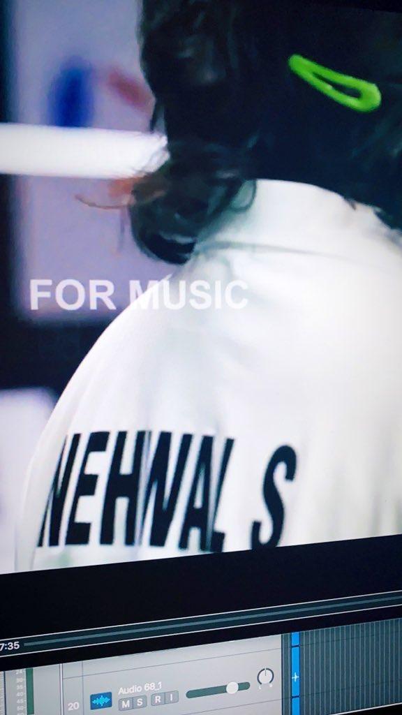 Working on the score of @NSaina 's biopic 🎵  Goosebumps thanks to @manojmuntashir's writing & @shreyaghoshal's vocals & @ParineetiChopra's performance 💯  #AmoleGupte #BhushanKumar @deepabhatia11 @BoseMeghdeep @TSeries @shivamchanana @VivinSachdeva @Rajuchanana @sonall_c