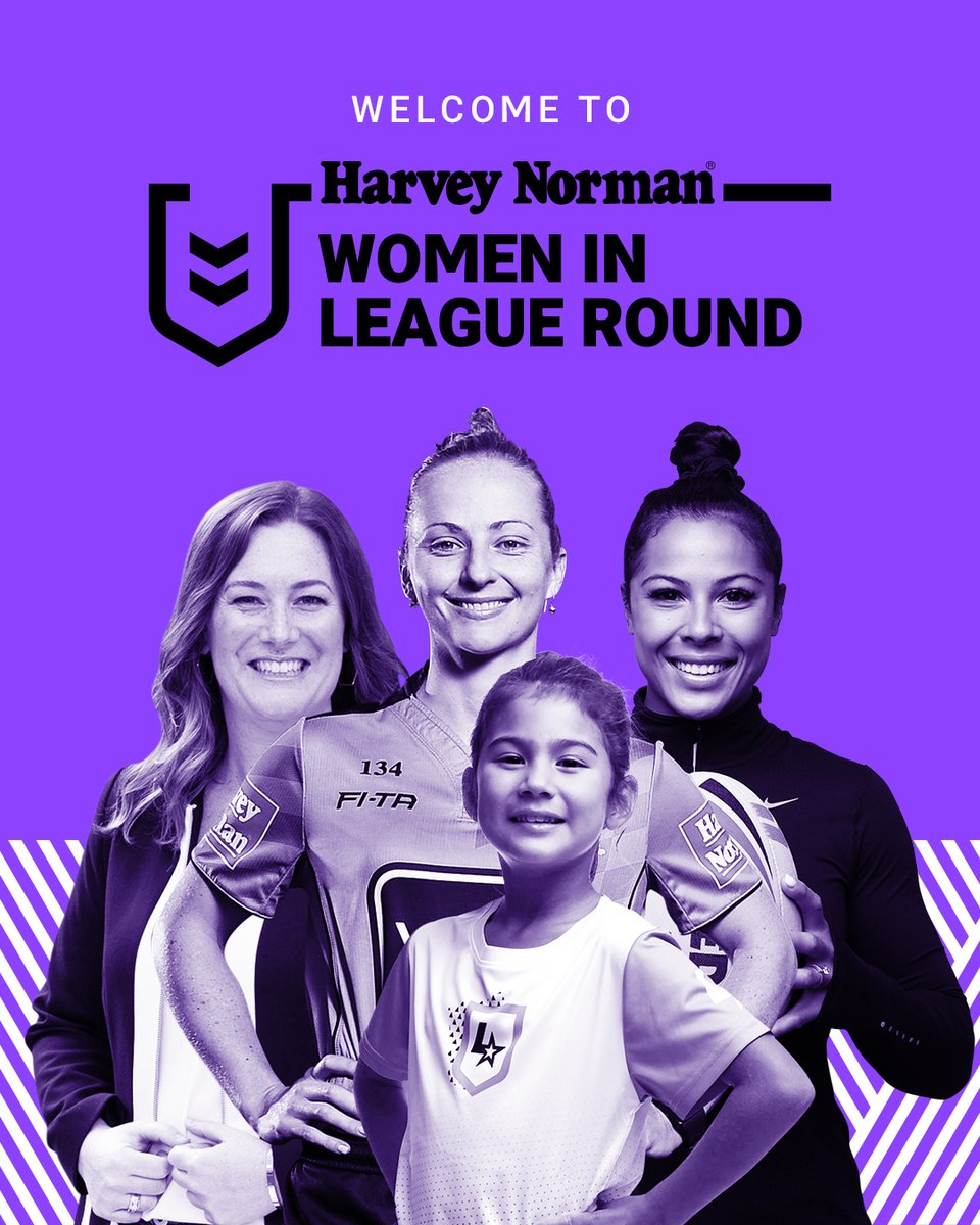 From #StrengthToStrength!   Welcome to @HarveyNormanAU #WomenInLeague Round 💜 https://t.co/IilUslwzVD
