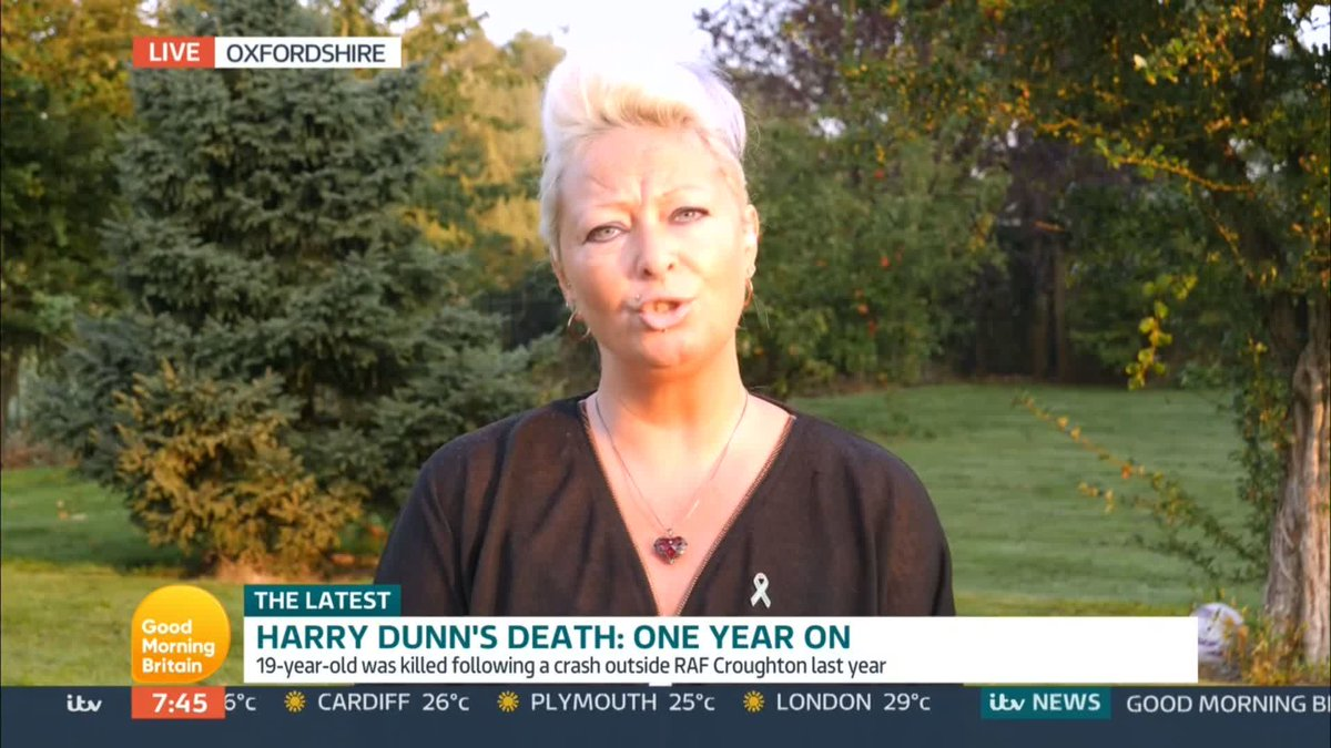 Get back over here and get into a court of law. The mother of Harry Dunn, who died following a road traffic collision last year, urges suspect Anne Sacoolas to return to the UK. Watch GMB: bit.ly/2AUrOCc