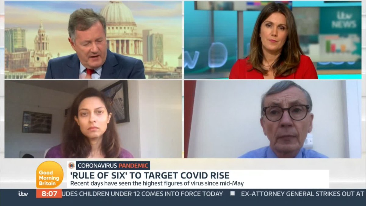 We have a responsibility to look after the most vulnerable. Professor Devi Sridhar speaks to @piersmorgan and @susannareid100 as the number of coronavirus cases in the UK spikes.