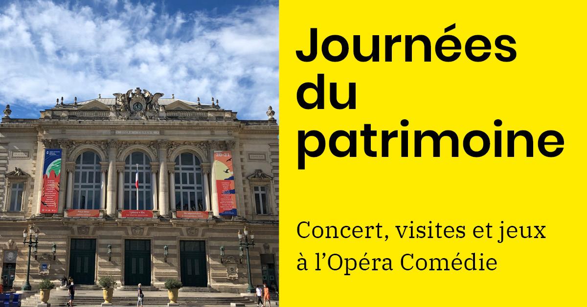 Ce week-end, nous vous ouvrons les portes de l'Opéra Comédie #Montpellier à l'occasion des Journées Européennes du Patrimoine #JEP2020 !  Concert symphonique, jeux pour les enfants, visites guidées...  👉Programme et réservations https://t.co/1I8BBQy7ny https://t.co/MDv3AV6S8a