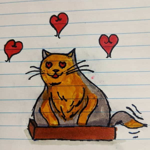 A kitty cat for Valentine's Gotta get that Valentine's clout. Day 44 . . #everydayart #traditionalart #sketchbook #sketch #markers #dailyart #artdaily #majorasmask #kitty #kittycat #catinabox #cat #valentines #valentinesday2020 #valentinesday #valentinescat #ilikeyou #kittylove https://t.co/OYJsdLGyyw