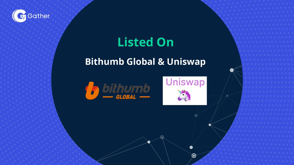 Huge congrats to @Gather_Network on their listings on their launch and listing on @BithumbGlobal & @UniswapProtocol ! Well deserved listing for a great project. Luxcore is proud to be a partner! $GTH $LUX
