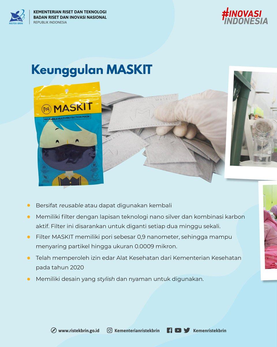 Salah satu startup binaan Kemenristek/BRIN Tahun 2019 yaitu MASKIT (Mask in Tech) dapat menjadi pilihan bagi #KawanIpek dalam menggunakan masker berbahan kain. Apa saja keunggulan dari MASKIT ini? #KawanIptek dapat menyimak pada infografis berikut.   #StartUp #InovasiIndonesia https://t.co/pMTOK0eqao
