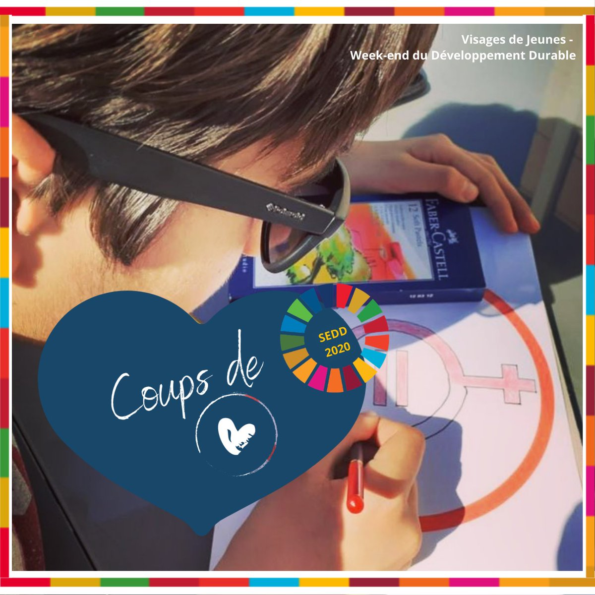 [#SEDD2020] Projet n°1⃣ : Week-end du #DéveloppementDurable par @Visagesdejeunes !  🗣️ Jeux, ateliers, débats, paroles de jeunes engagés et conférences : sensibiliser le grand public aux #ODD.  👉 https://t.co/VGfrXb8QiL  #EDD #ESDW2020 #SEDD #Agenda2030_FR https://t.co/zfSuLufpcC