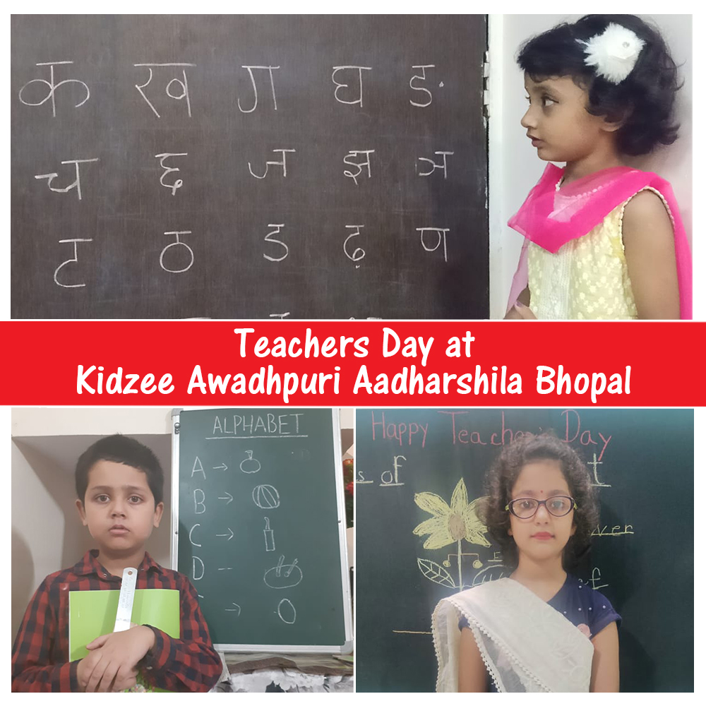 Teachers' Day was celebrated with great joy and fervor at Kidzee Aadharshila, Bhopal. Children showed their love by acting as teachers as it was the best way to express their emotions.  #Kidzee #KidzeeStudents #TeachersDay #Celebrations #India #TopicalDay #Teachers #Students https://t.co/9IS6vZEs65
