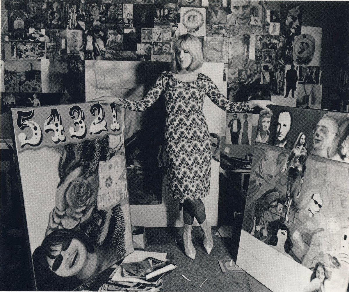 Pauline Boty (1938-1966) was a co-founder of the British Pop Art movement #womensart