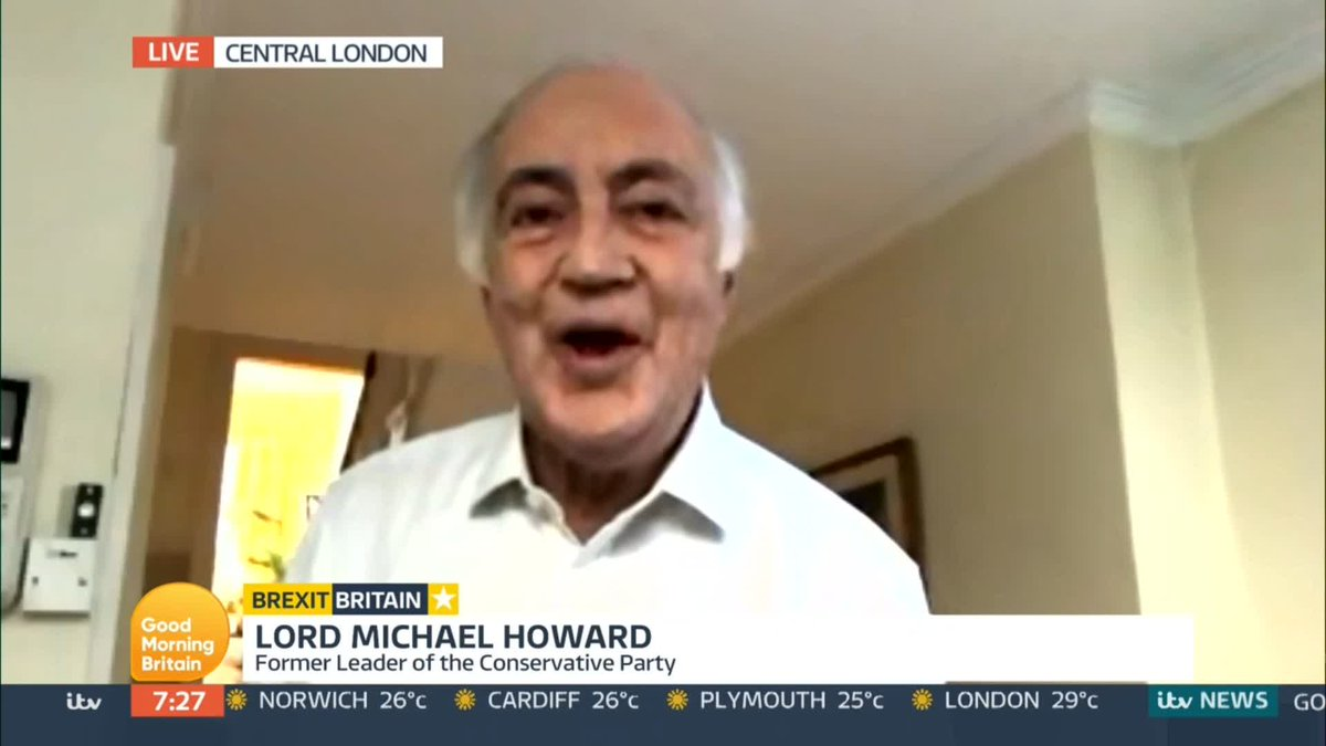Im concerned about the reputation and honour of our country. Former Tory Leader Lord Michael Howard criticises Boris Johnsons plans to overwrite the Brexit Withdrawal Bill.