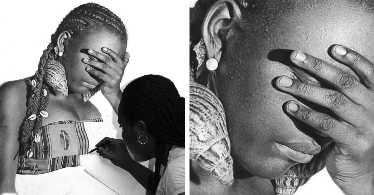 Nigerian artist Chiamonwu Joy, known for her hyperrealist artworks in charcoal #womensart