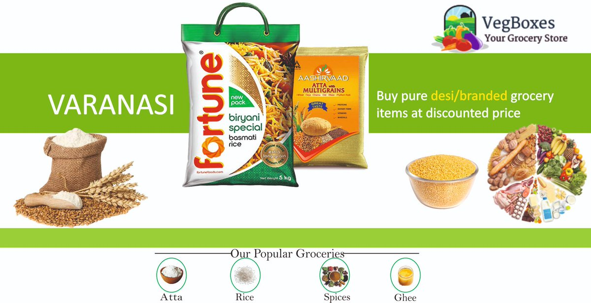 #GroceryDelivery #Varanasi #Vegboxes  Veg Boxes is the leading grocery delivery service provider in Varanasi. We offer both Desi and branded products with 100% quality assurance.   Same Day Delivery. For urgent needs or assistance, you may call / whatsapp any time: +91-9136249042 https://t.co/iY5CcAaJIx