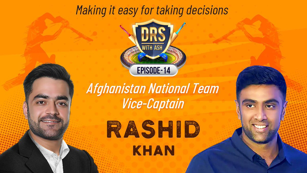 Did you know, after seeing @rashidkhan_19 play in the IPL, back home in Afghanistan, they had 124 leg spinners enrolling in an academy?  Listen to Rashid Khan's inspirational Afghanistan story in today's episode of #DRSWithAsh 👇🏻👇🏻👇🏻👇🏻