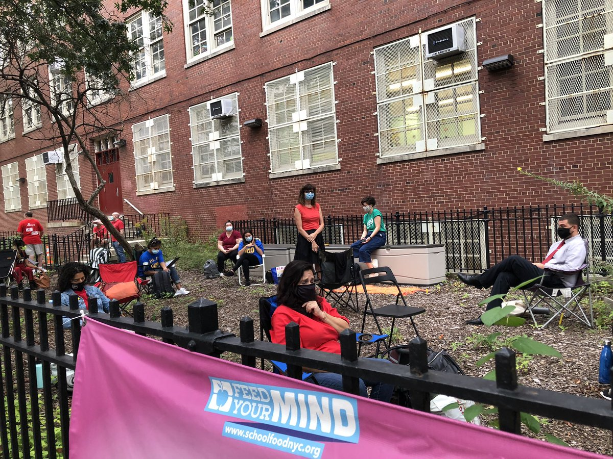 PS139 in Brooklyn: Teachers at multiple NYC public schools are working outside today because they don't feel the buildings are safe.