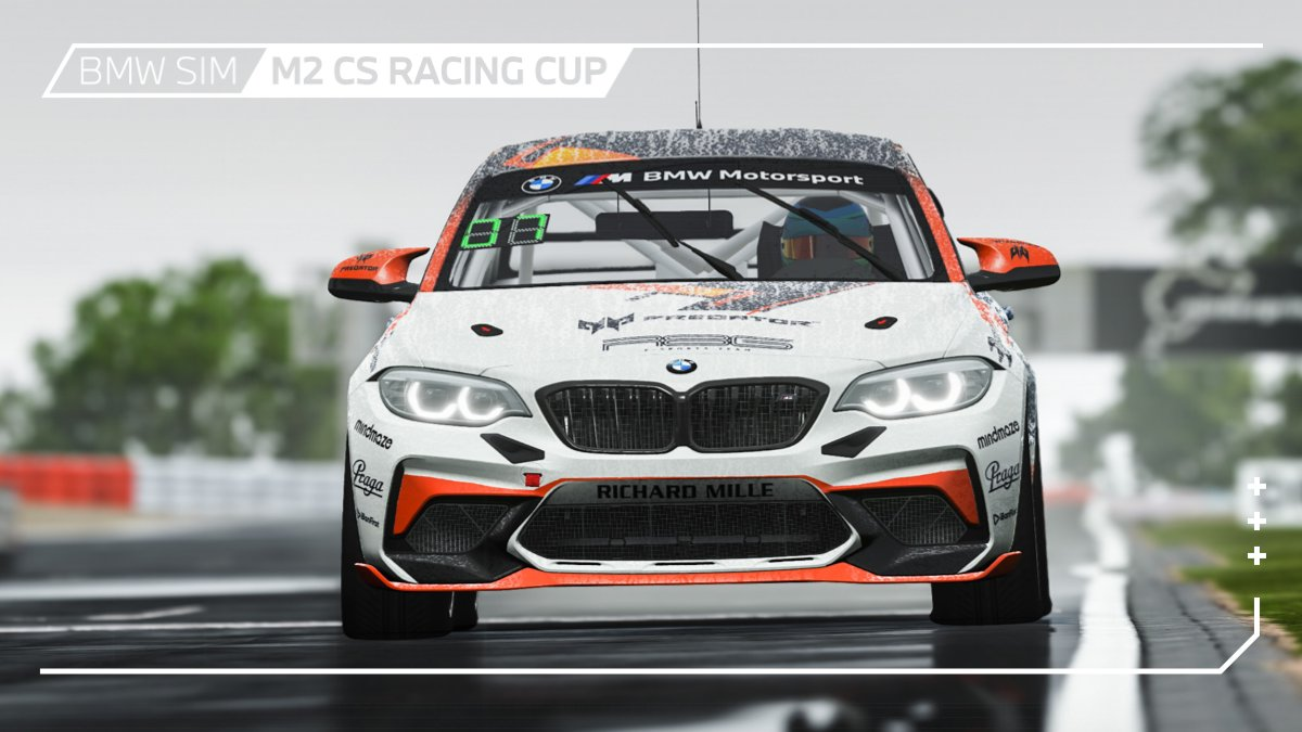 Racing in the rain.🌧🌳🔥  When it is slippery and wet in hell, it is twice as much fun for the fans. Don't miss the BMW SIM M2 CS Racing Cup on Wednesday, 20:00 CEST, live at 👉🏻 https://t.co/fnwi8zEU1i.  Nürburgring action of the finest awaits you. #BMWSIM @rFactor2 https://t.co/c09QLpZzaD