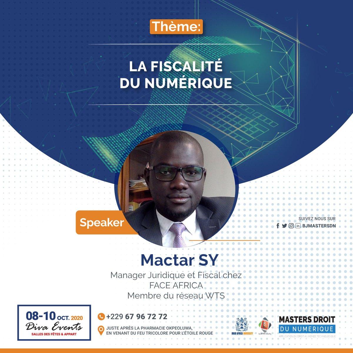 L'approche comparée permet de critiquer, d'inspirer et d'améliorer. Mactar SY, fiscalite sénégalais, nous apprendra ce qui se fait de bien en matière de fiscalité numérique au Sénégal. Obtenez votre pass maintenant 👉https://t.co/Aay8Dg9b8X #droitnumérique #BJMasterDN https://t.co/58W1hN6Kb4